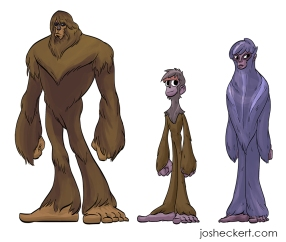 Son of Bigfoot character designs